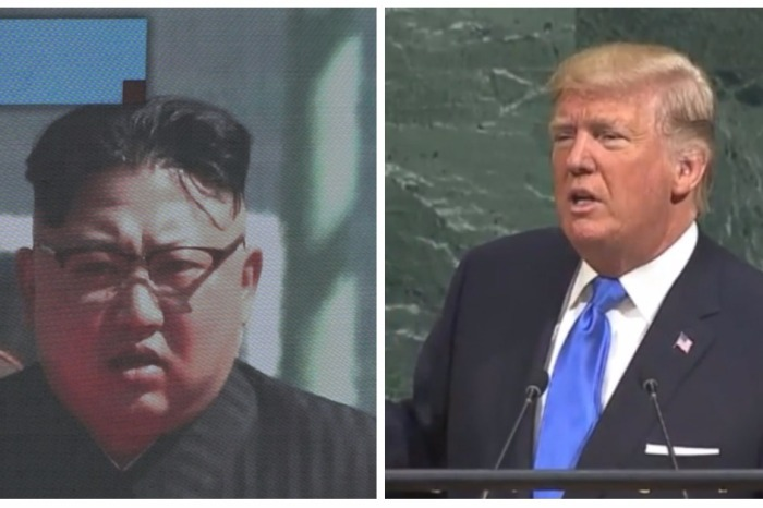 "You have to see Donald Trump blast off Kim Jong-un's ""Rocket Man"" nickname at the U.N."