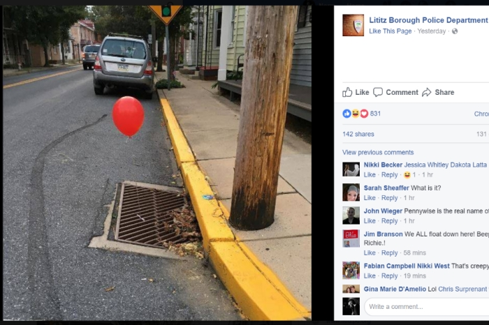 """A mysterious prankster tied red balloons to sewer grates to promote the new """"It"""" movie"""
