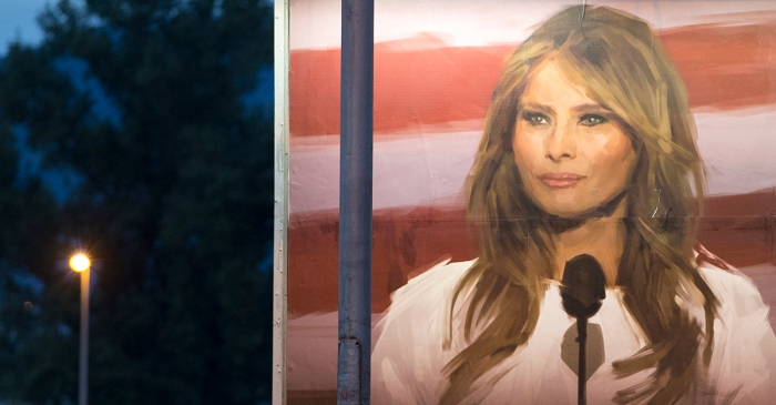 A school rushes to remove this billboard of Melania Trump after criticism rolls in