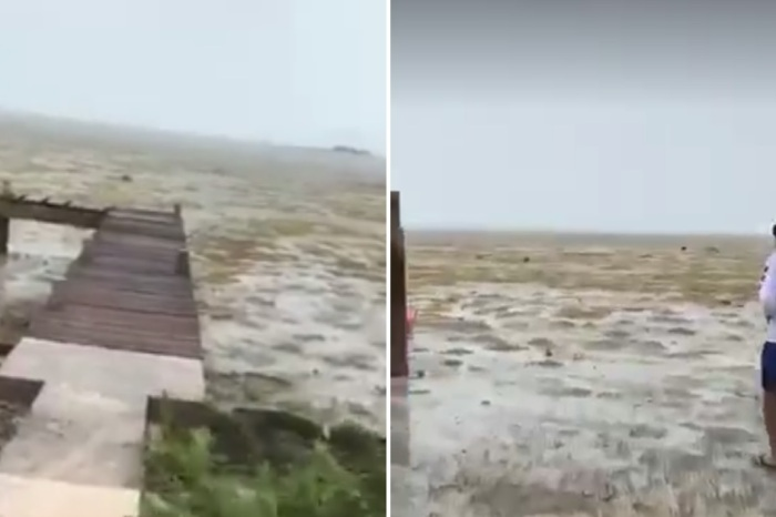 """Irma is sucking up seawater, leaving bare ocean floor """"as far as the eye can see"""""""
