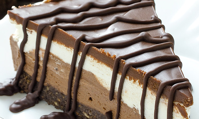 Oreo crust, cheesecake middle, chocolate topping — the dessert of your dreams is finally here