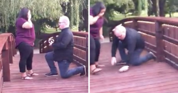 Man's Proposal Goes Off With a Splash When He Drops $3K Engagement Ring into a Pond
