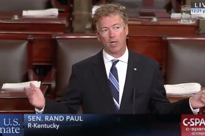 "Rand Paul demands vote on AUMF: ""I rise today to oppose unauthorized, undeclared, and unconstitutional war"""