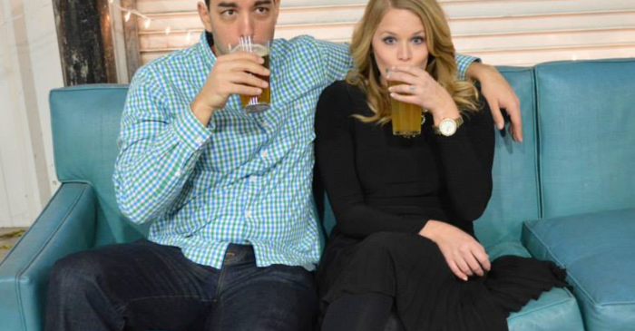 LOVE has four letters — and so does BEER, as this brew-loving couple knows