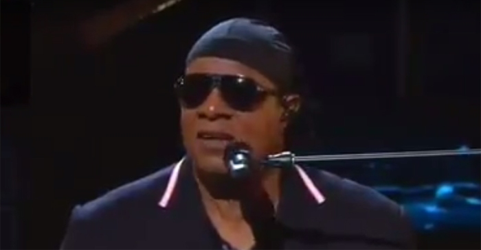"Stevie Wonder blasts climate change deniers as either ""blind or unintelligent"""