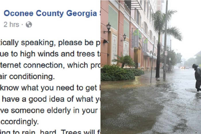 One county sheriff's office had a sarcastic warning for everyone preparing for Irma