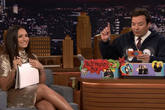 Jimmy Fallon and Demi Lovato attempt the Best Friends Challenge and fail hilariously