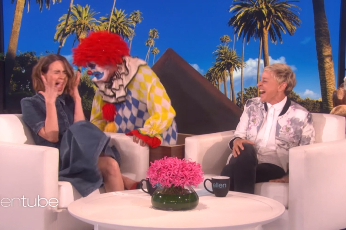 "Flashback to When Ellen Scare-Pranks ""American Horror Story"" Star Sarah Paulson"