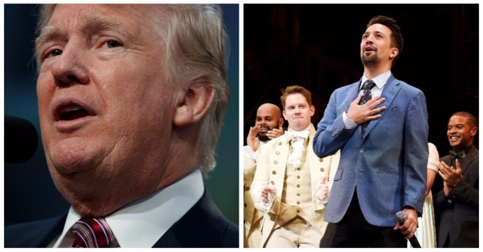 """""""Hamilton"""" star just damned President Trump to hell twice for his Puerto Rico hurricane response"""