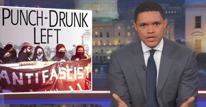 """The Daily Show"" goes after Antifa, aka ""Vegan ISIS"""