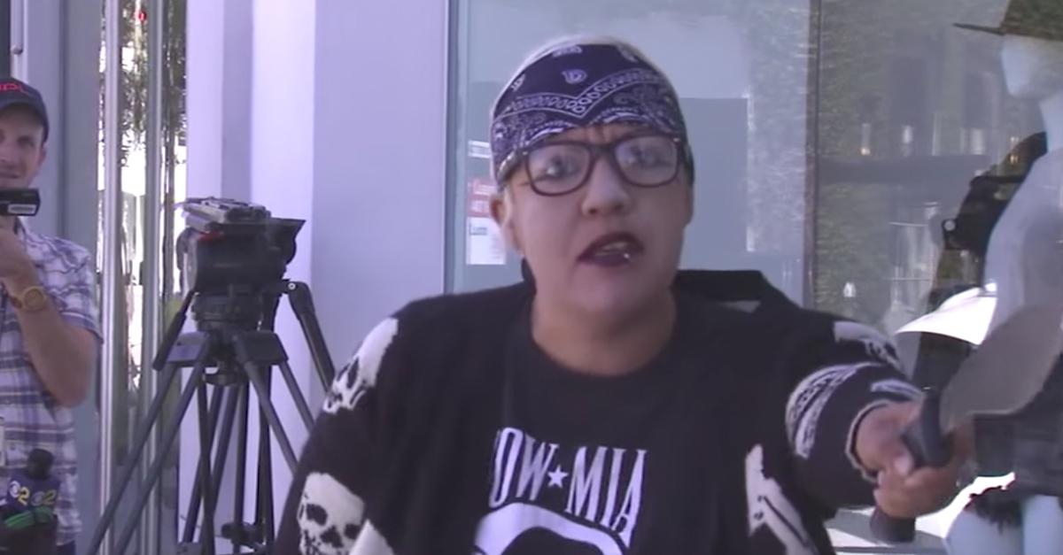 Crazed woman with a knife and a gun raises terror outside Kardashian store