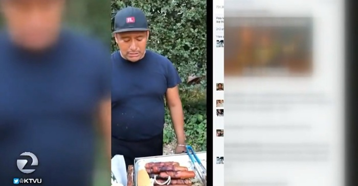 People are furious over a video of cop seizing a hot dog vendor's money and want him fired