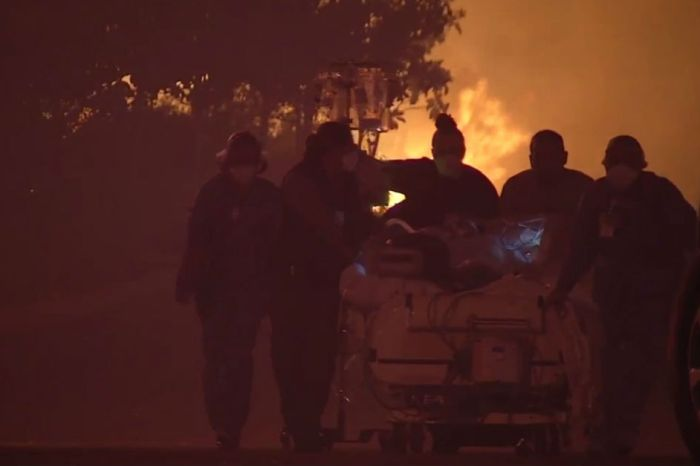 California wildfires close in on hospitals, forcing doctors to make a very hard choice