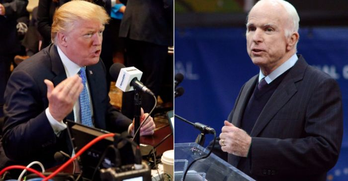 President Trump responds to John McCain's criticism with a threat of his own