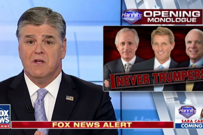 Sean Hannity wasted no time going after Bob Corker and Jeff Flake