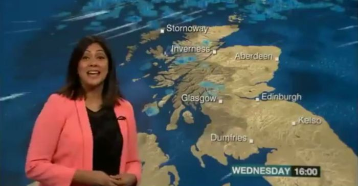 This weather woman could not hold it together, and everyone noticed
