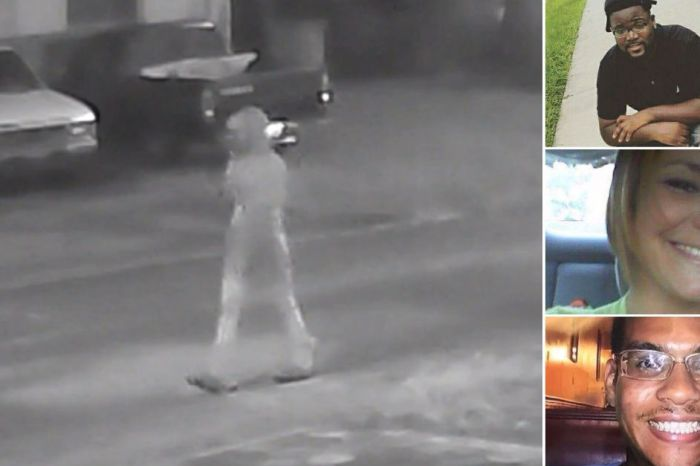 Police release key footage after a potential serial killer murders three