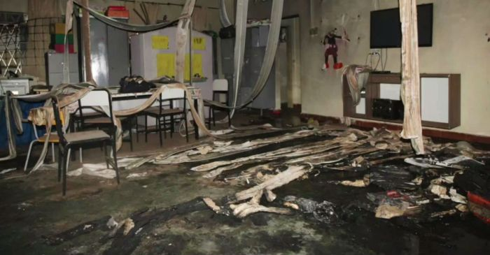 Four young children died after a security guard lit a daycare on fire