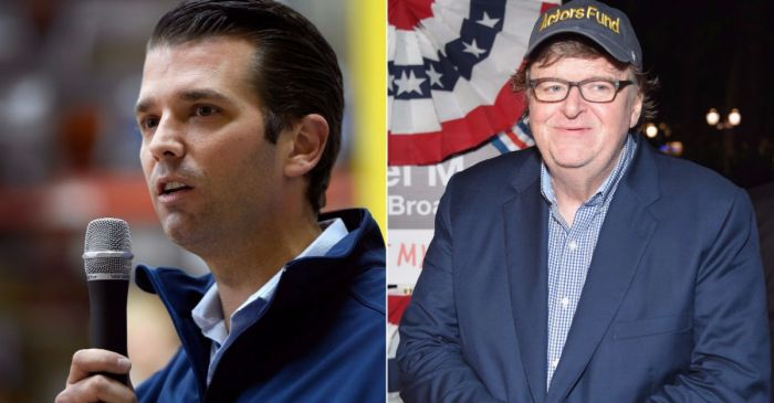 "Don Trump Jr. unearths Michael Moore's praise of Harvey Weinstein: ""This didn't age well"""