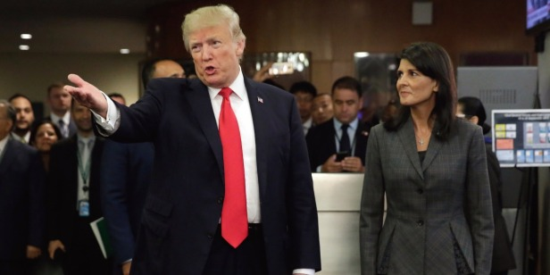 Nikki Haley gives a strong rebuke to internet chatter that she's sleeping with the president