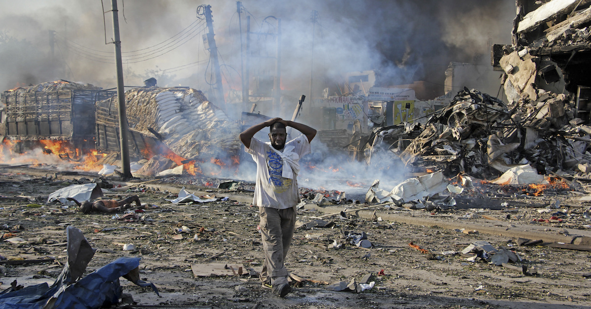 Bombs went off in Somalia, killing hundreds of people — the early images are horrifying