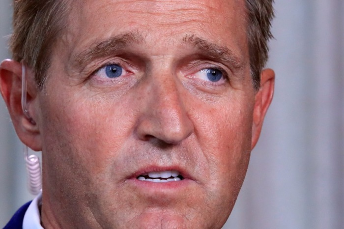 "Jeff Flake rejects Trump's GOP as the ""new normal"""