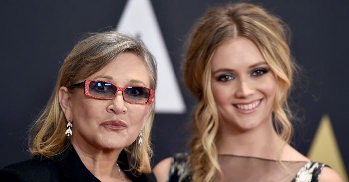 Billie Lourd pays tribute to mom Carrie Fisher on her first birthday since her passing