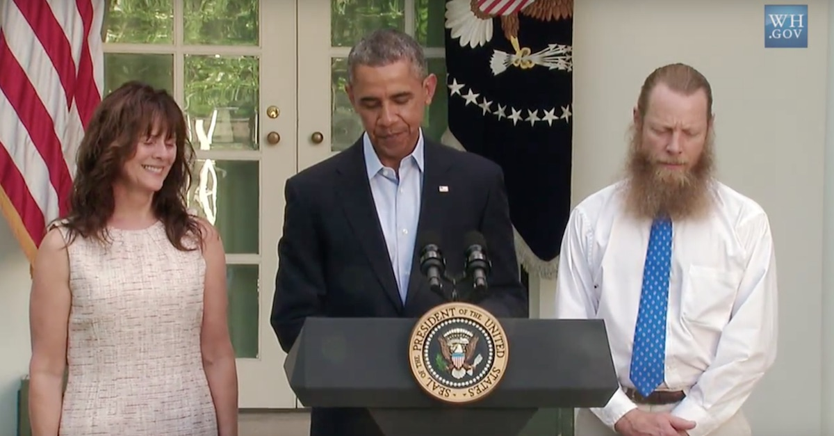 Obama said the U.S. wouldn't abandon Bergdahl, who has since pleaded guilty to desertion