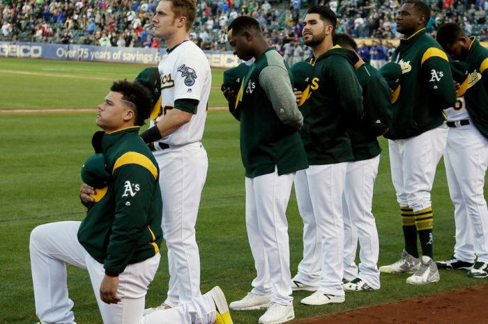 MLB player says he was denied service for anthem protest, but his waiter says otherwise