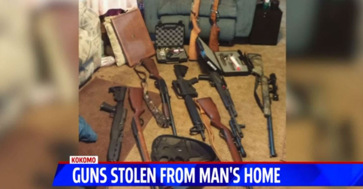 """After 16 guns were stolen from his home, he advises, """"Don't let strippers in your house"""""""