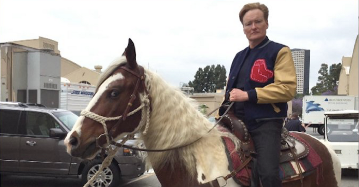David Letterman apparently once gave Conan O'Brien an actual horse as a thank you gift