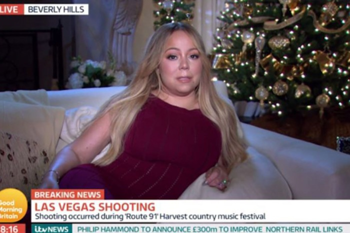 Mariah Carey learns of the Las Vegas mass shooting during a live TV interview