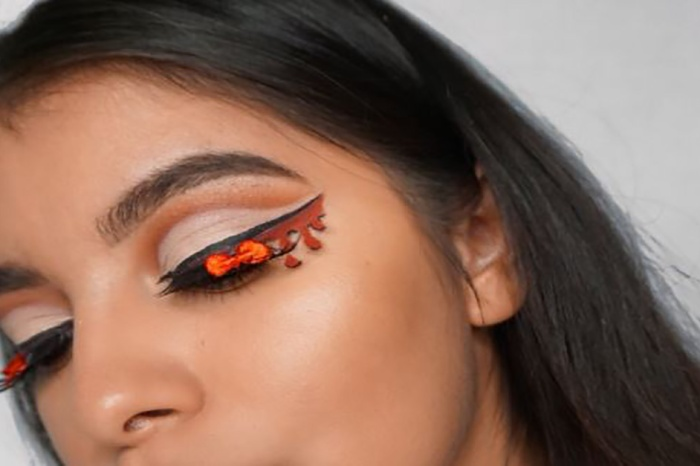 """Blood liner"" is the newest internet makeup trend, and it's gory as can be"