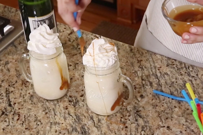 If you love apples and ice cream, these salted caramel apple cider floats have your name all over them