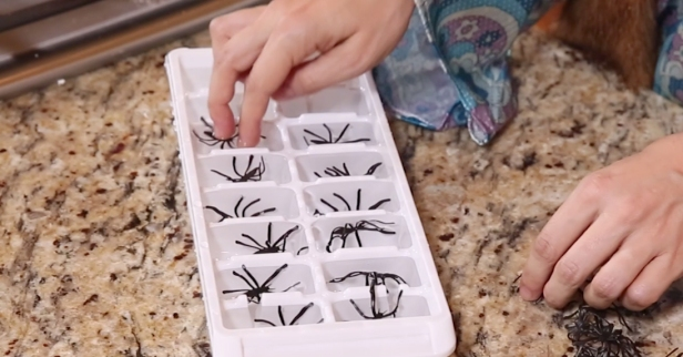 No Halloween drink is complete without these creepy crawly spider ice cubes