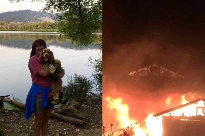 """Las Vegas shooting survivor comes home to lose """"almost everything"""" in California inferno"""