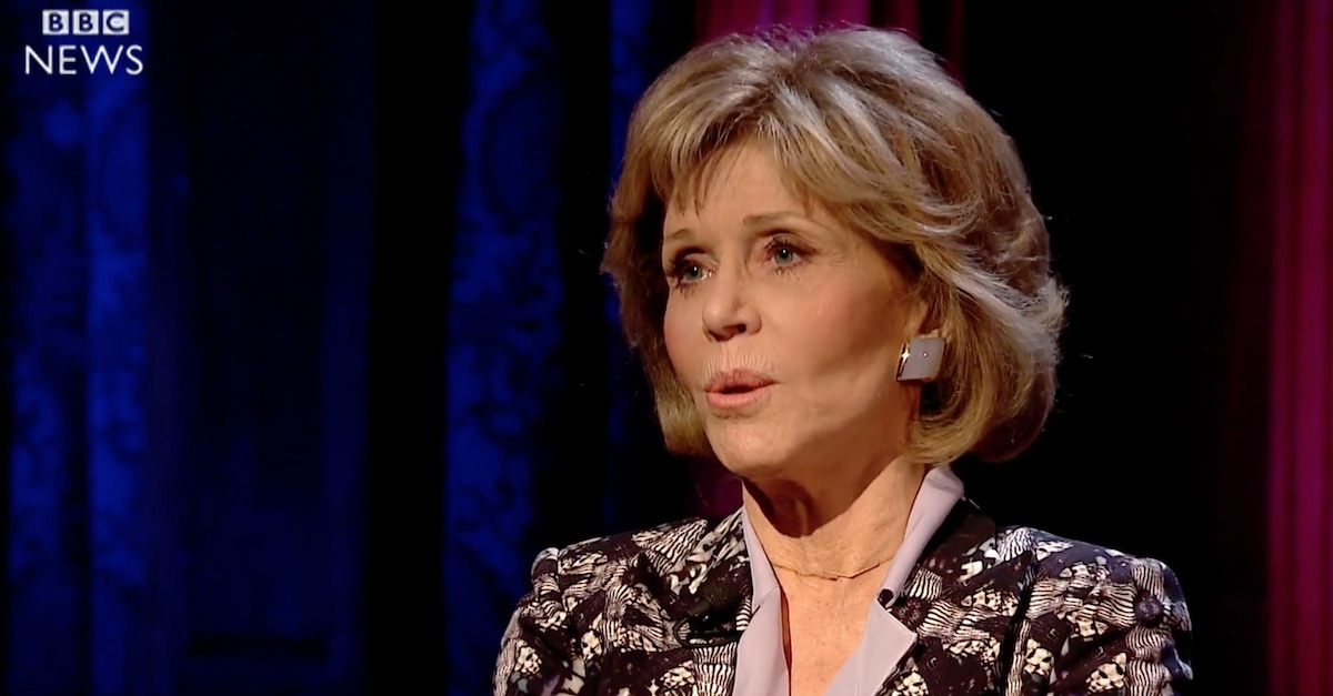 "People weren't too fond of Jane Fonda's answer to ""Are you proud of America today?"""