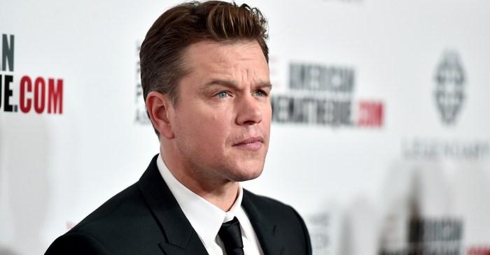 "Matt Damon misses an award show due to a ""family emergency"""