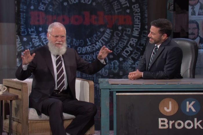 "Talk show king David Letterman stopped by ""Jimmy Kimmel Live"" to confirm a bizarre rumor"