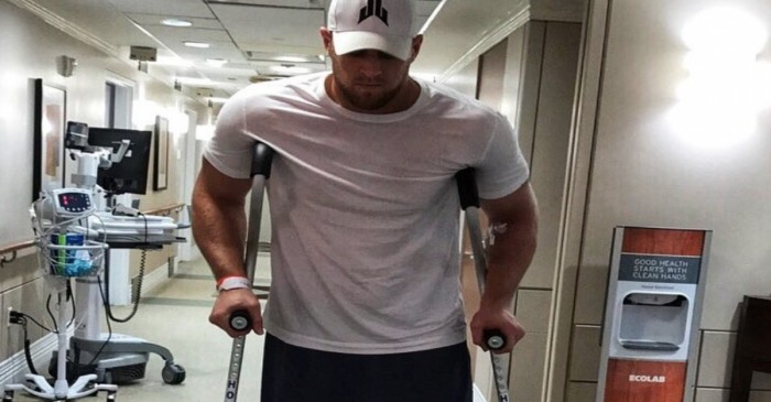 J.J. Watt gives fans an Instagram injury update as they await news on his Harvey relief fund