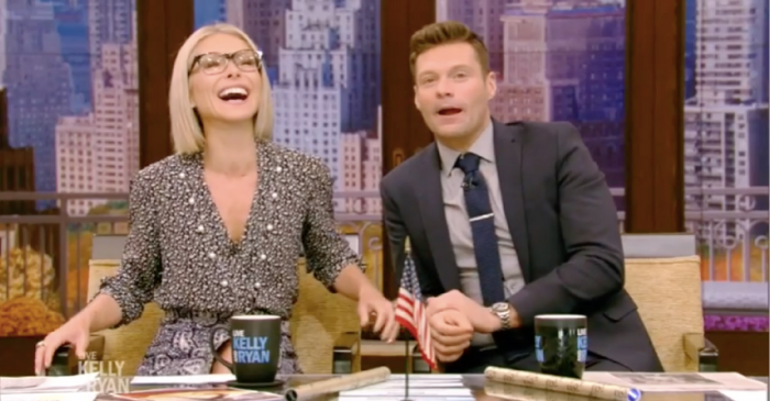 Kelly Ripa can't stop laughing while watching Ryan Seacrest's cameo on an iconic 90s show