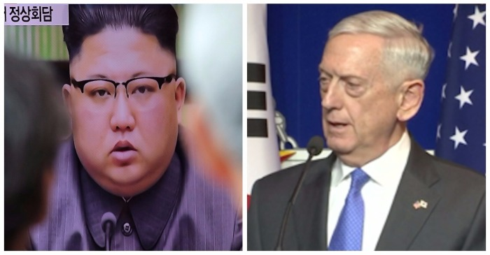 """Mad Dog"" Mattis drew a definitive line in the sand for ""outlaw"" Kim Jong-un"
