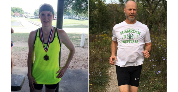 Chicago-area man and Texas woman are running the marathon for the same, beautiful reason