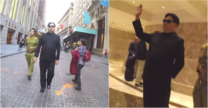 "Bystanders were left stunned when ""Kim Jong-un"" walked into Trump Tower"
