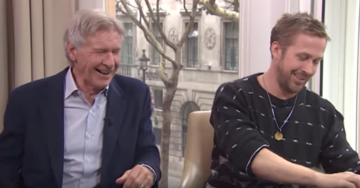 Harrison Ford and Ryan Gosling's interview goes hilariously off the rails