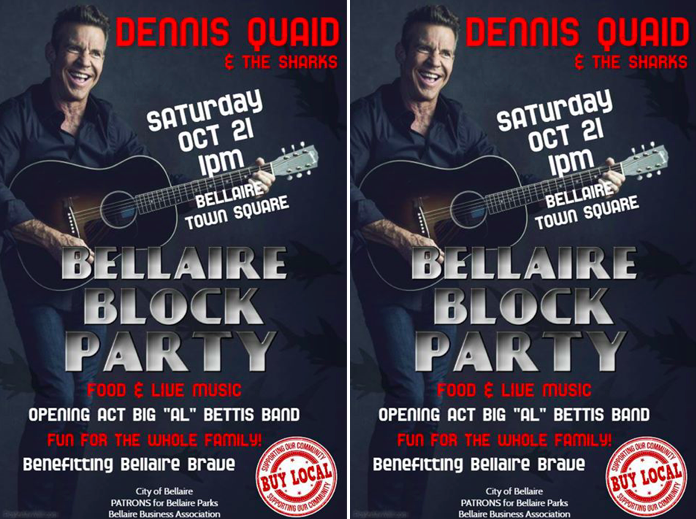 Dennis Quaid returns to his Houston hometown to rock the suburb for these Harvey heroes