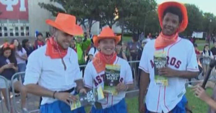 Better than going to a chocolate factory, three lucky U of H students won golden tickets to the World Series