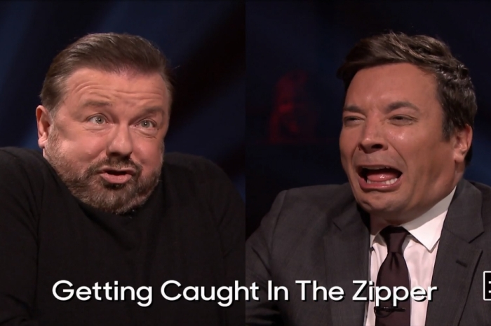 Jimmy Fallon and Ricky Gervais square-off in a hilarious silly-face showdown