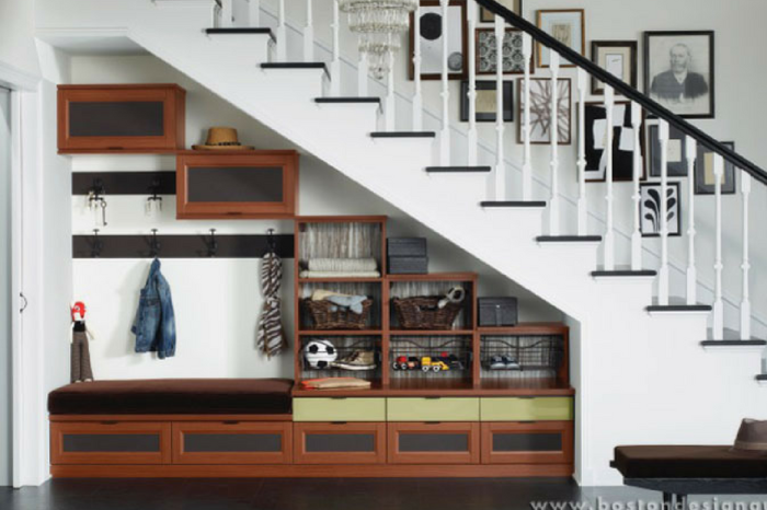 You can finally be free of your hallway clutter with these 5 ways to reclaim the space under your stairs