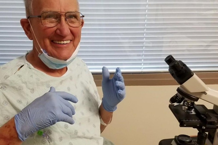 Refusing to let his cancer win, a Texas A&M professor is working from his Houston hospital bed